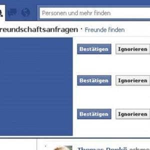 Freundschaftsanfragen auf Facebook