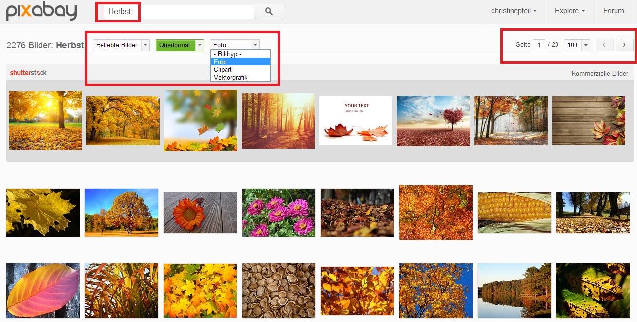 Suchergebnisse Pixabay