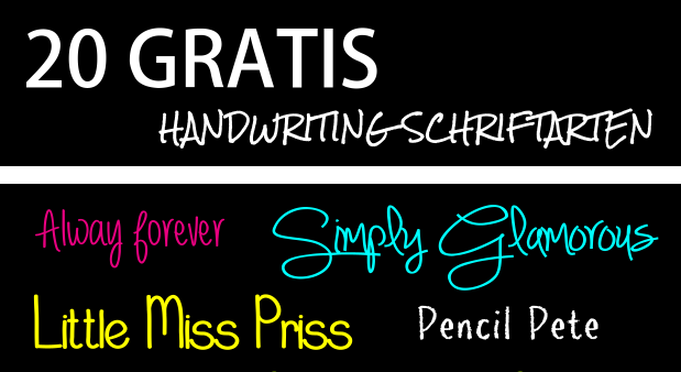 20 Gratis Handwriting Schriftarten
