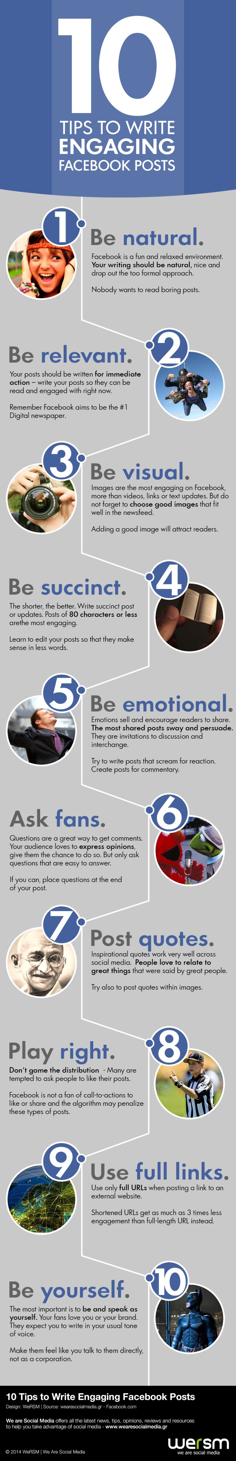 10 Tipps für ein tolles Facebook Posting