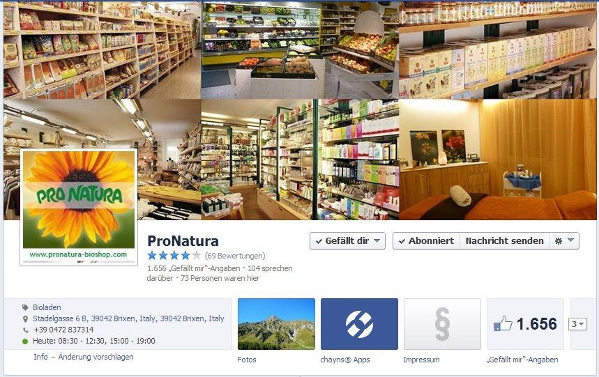 ProNatura auf Facebook