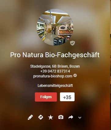 ProNatura auf Google+