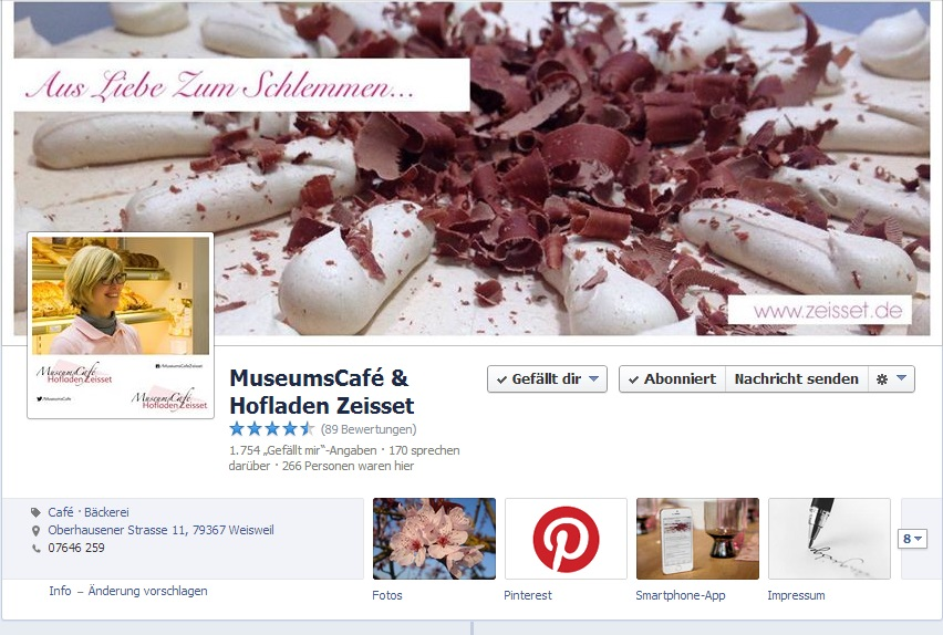 MuseumsCafé & Hofladen Zeisset auf Facebook