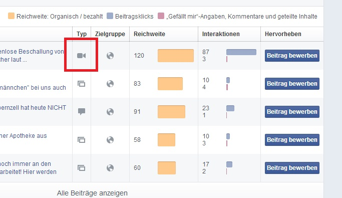 Neue Statistiken für Videos auf Facebook