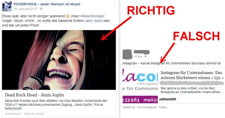 Link-Vorschaubilder auf Facebook - so gehts richtig!