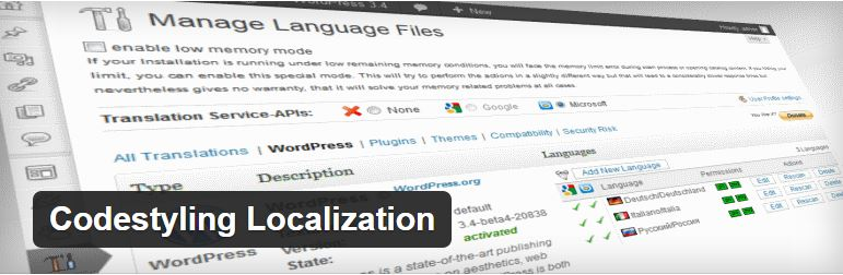 Codestyling Localization