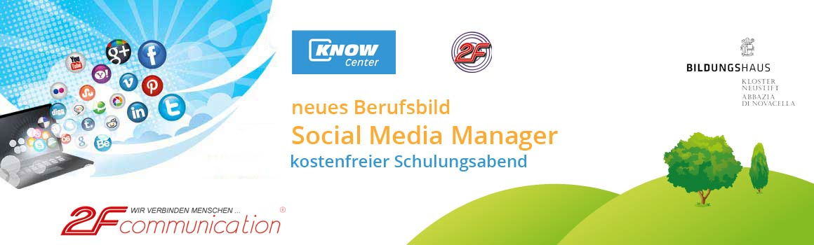 neues Berufsbild - Social Media Manager Lehrgang bei Institut 2F