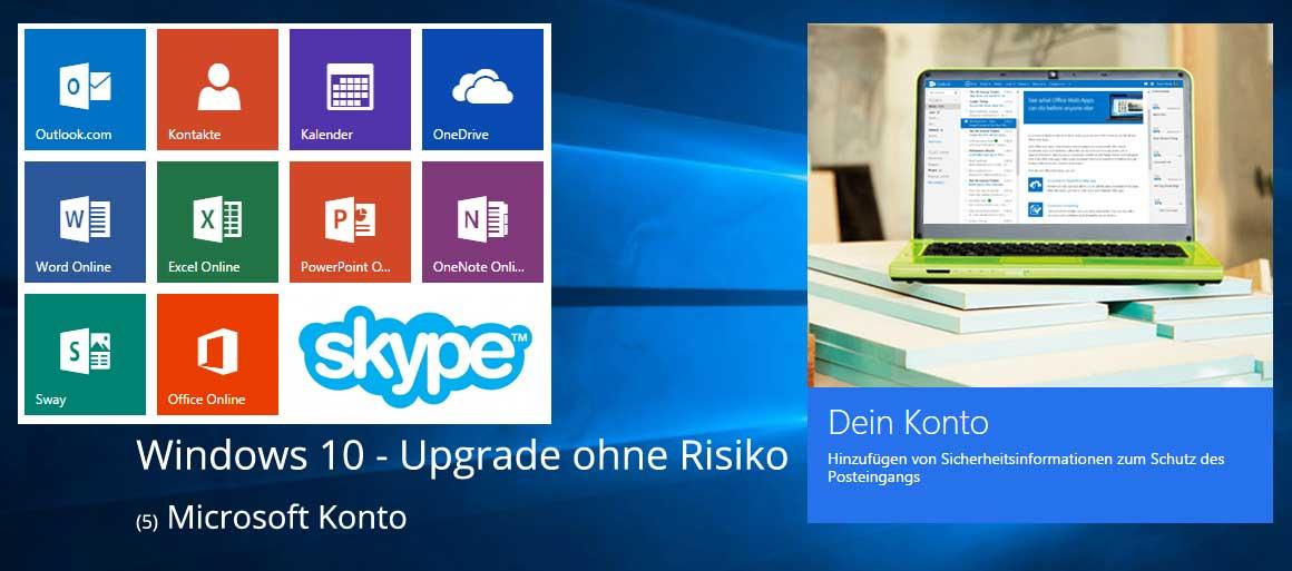 Windows 10 - Microsoft Konto Verteile