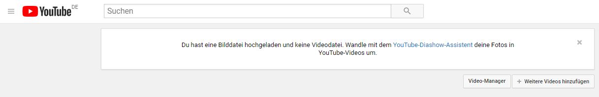 screenshot: YouTube-Diashow