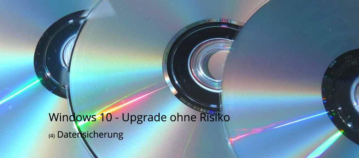 Vorbereitung Windows 10 - Datensicherung